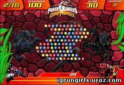 Флеш-Игры Онлайн игра Могучие Рейнджеры: Power Rangers - Dino Thunder