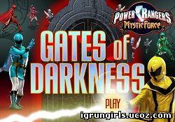 Флеш-Игры Онлайн игра Могучие Рейнджеры: Power Rangers - Gates Of Darkness